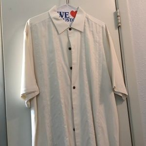 Tommy Bahama White Short Sleeve Shirt